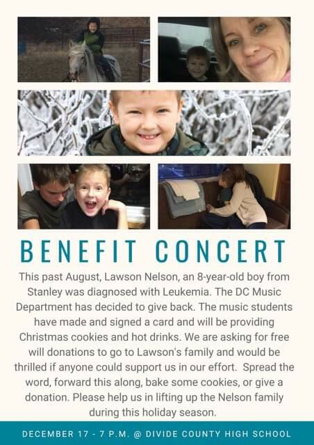 Come out to the concert and support our students. Help them support this sweet little boy!