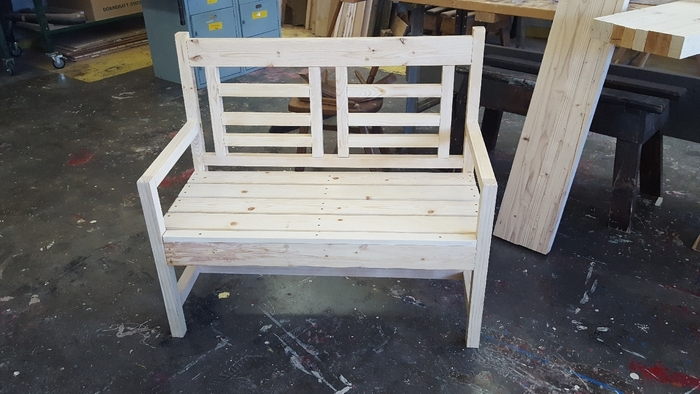 Bench completed constructed.