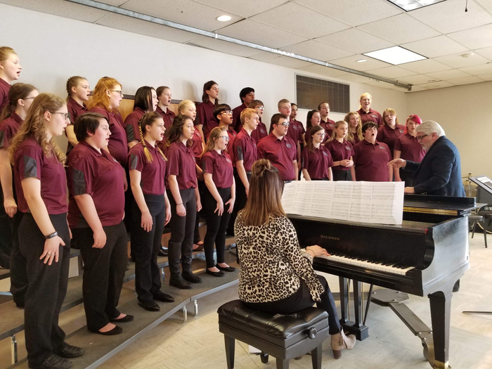 DC choral members getting the opportunity to work with Dr. Bowles @ Region 9 Vocal Contest Monday, March 11th.