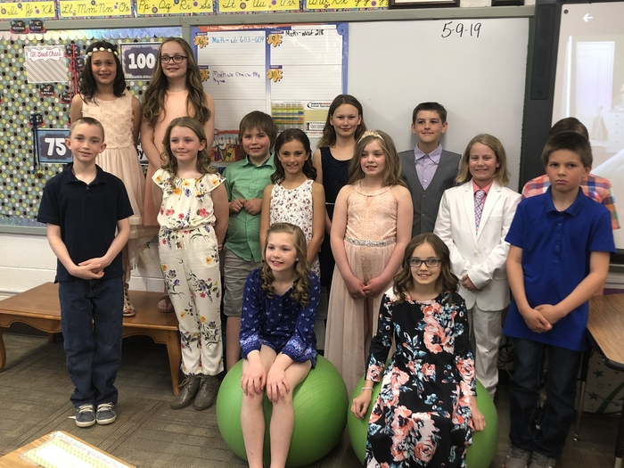 4B is ready for their spring program!  They all so wonderful in their dress clothes.