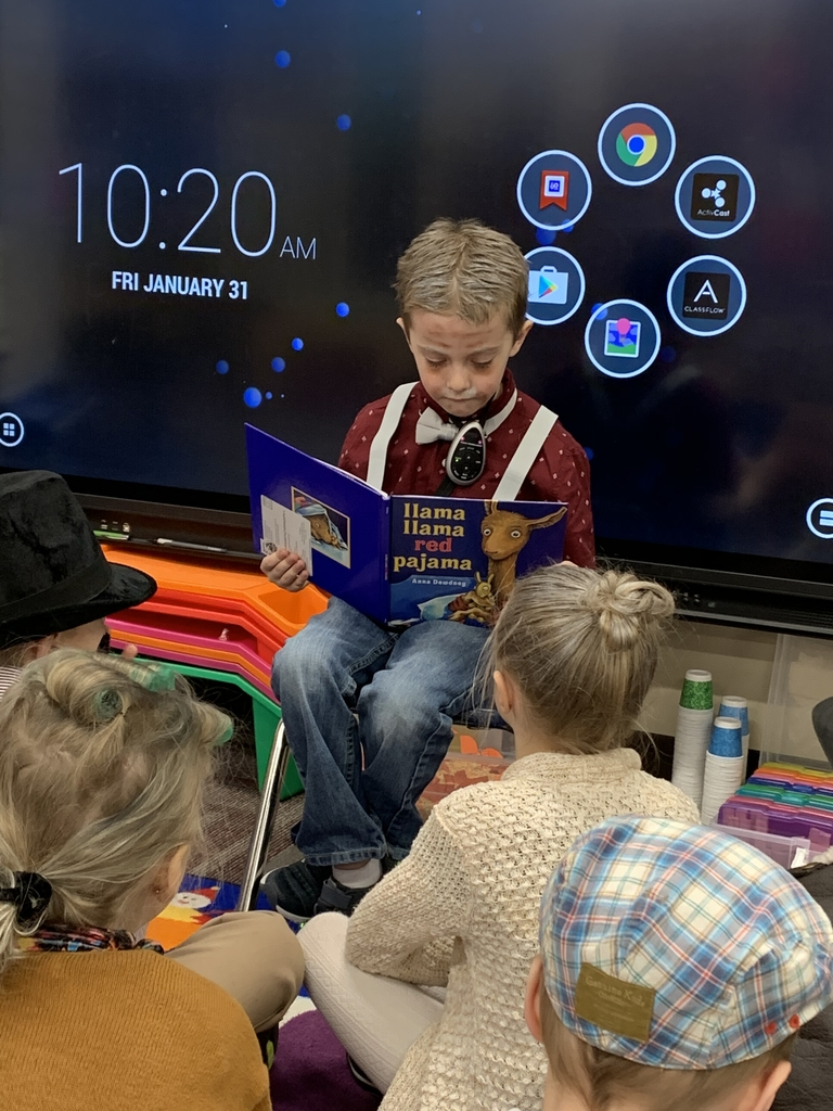 100 days smarter and Jace reads to the class! What a great day!!