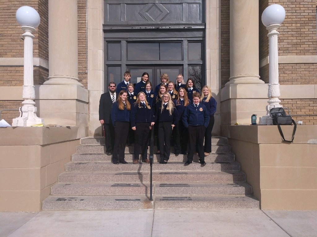 FFA members after attending the Soil Health meeting.